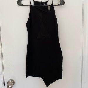 Black Mesh Cutout Dress